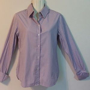 Moda Lilac Striped Button Front Shirt
